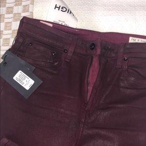 Rag & Bone High Rise Skinny Cut Ankle Length Jeans